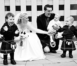 Couple with pageboys